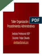 Taller Organización de Procedimientos Administrativos_Sesion 1 Part 1.ppt [Modo de compatibilidad]