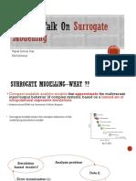 Surrogate Modelling