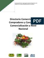 Directorio Comercial de Compradores y Canales de Comercializacion a Nivel Nacional