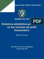 Dinamica Estadistico-profesiona - Numa Rodriguez, Mirtha