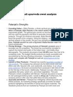 Patanjali Ayurveda SWOT analysis