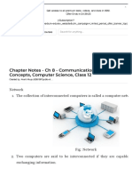 Chapter Notes - Ch 8 - Communication and Network Concepts, Computer Science, Class 12 Class 12 Notes | EduRev