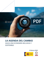 la agenda del cambio