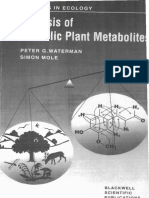 Waterman & Mole. Analysis of Phenolic Plant Metabolites. Blackwell 1994