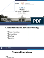 Lec-23 Advanced Writing Skills