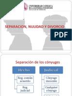 Separacion, Nulidad y Divorcio