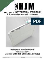 Mode d Emploi Radiateur Electrique a Inertie Fonte Fonte Hjm 1000 w 1