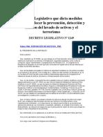 Decreto Legislativo Nº 1249