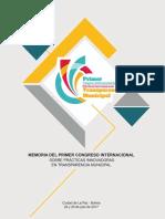 Memoria del Primer Congreso Internacional sobre prácticas innovadoras en transparencia Municipal