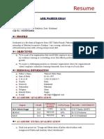 Adil Waheed CV