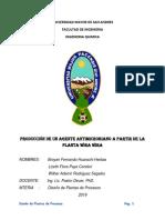 Produccion de Un Agente Microbiano a Partir de La Planta Wira Wira