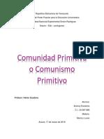 Informe de comunidad Primitiva.docx