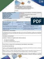 Guia de Actividades y Rúbrica de Evaluación - Tarea 2. Dualidad y Análisis Post-óptimo 2019-4