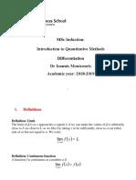 2. Differential Calculus