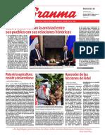 Diario Granma. 30 de 0ctubre de 2019.