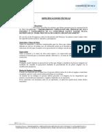 01. Especificaciones Técnicas Agua - p. Playa