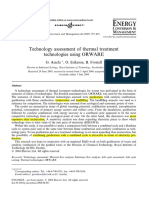 Technology assessment of thermal treatment technologies using ORWARE