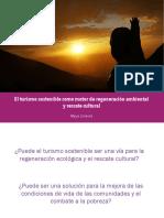 El turismo sostenible como motor de regeneración ambiental y rescate cultural Mayra Jiménez ATMEX 2019