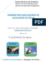 Parâmetros Indicadores de Qualidade Da Água