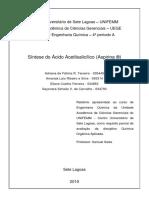 Relatório Quimica Organica - Aspirina - 3