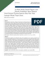 Perbandingan multiattribut regresi linier dengan PNN untuk estimasi porositas