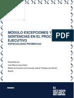 Excepciones y Sentencia en El Proceso Ejecutivo