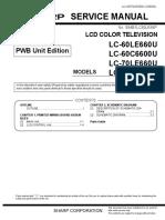 SERVICE MANUAL TV SHARP  LC80LE660U
