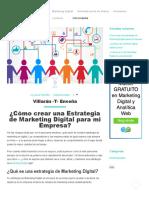 Cómo Crear Una Estrategia de Marketing Digital Para Mi Empresa