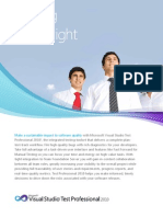Microsoft Visual Studio Test Professional 2010 Datasheet