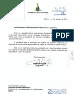 Projeto para redução do percentual de recursos à FAP-DF