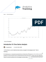 Introduction to Time Series Analysis | Analytics Training Blog