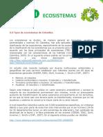 Tipos de Ecosistemas y Servicios Ecosistémicos