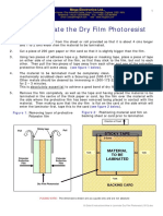 HOW TO LAMINATE DRY FILM PHOTORESIST