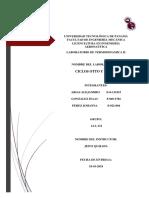 Termodinámica 2 1AA131 Informe 5 Arias, González, Pérez