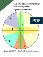 pistol diag target