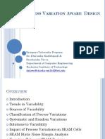 Process Variation Aware Design