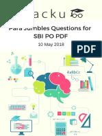 Para Jumbles Questions for SBI PO PDF