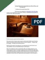 Sauna Report
