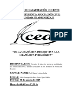 De La Gramatica Descriptiva a La Gramatica Pedagogica