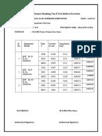Turret Ct &Tan Delta Report