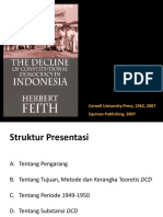Herbert Feith (1962) the Decline of Constitutional Democracy in Indonesia
