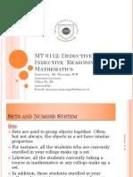 MT 0112 Lecture1 Sets