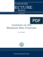 [University Lecture Series] H. Iwaniec - Lectures on the Riemann Zeta Function (2014, American Mathematical Society).pdf