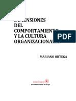Ortega - 1982 - Dimensiones Del Comportamiento y La Cultura Organizacionales