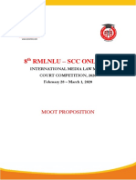 Moot Proposition 8th RMLNLU SCC Online International Media Law Moot Court Competition 2020