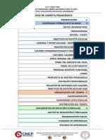 indice de carpeta pedagogica