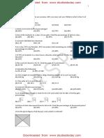 CBSE Clas 7 Maths Worksheet - Comparing Quantities (2)