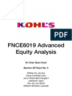 Kohl's Equity Valuation