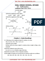 CBSE Clas 7 Maths Worksheet - Data Handling (3)