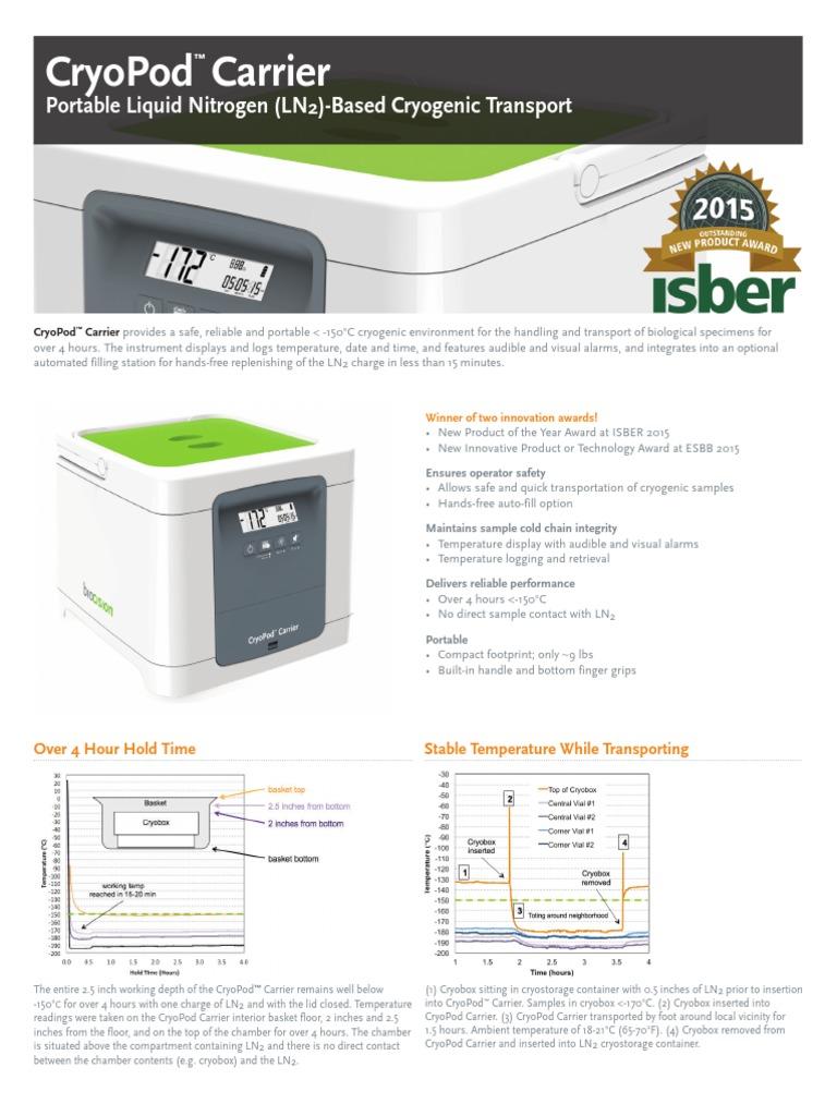 CryoPod Manual Fill Kit BCS-516 CryoPod Carrier Each BioCision ...
